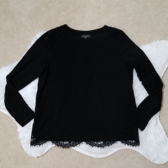 Lord & Taylor Tops - Lord & Taylor petite black lace shirt